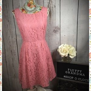 Lauren Conrad Melon Lace Dress 16